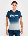 Blauer Shaded Tricou