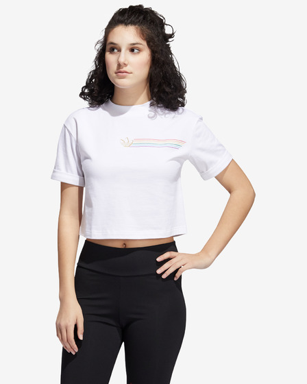 adidas Originals Pride Linear Cropped Tricou